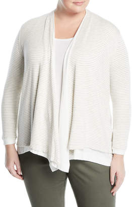 Three Dots Plus Reversible Draped Cardigan, Plus Size