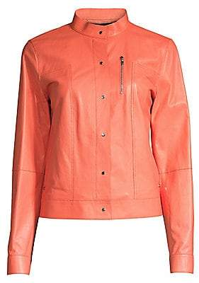 Lafayette 148 New York Women's Galicia Leather Jacket
