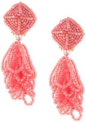 Sachin + Babi multi-stranded seedbead earrings