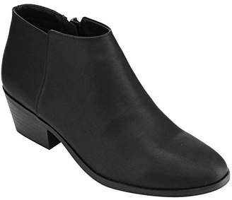 Soda Sunglasses FC67 Women's Western Inside Zipper Stacked Heel Ankle Booties, Color:, Size:6