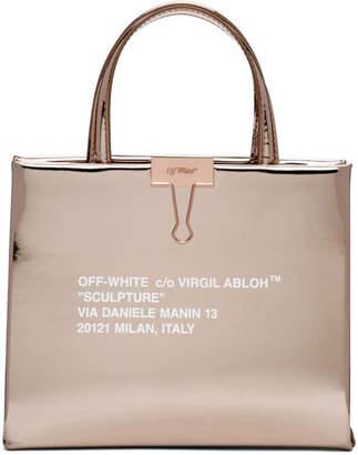 83e879ca96a6 Off-White Rose Gold Mirror Box Bag