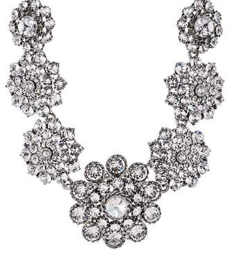 Flower statement necklace shopstyle oscar de la renta pave flower statement necklace 16 mightylinksfo