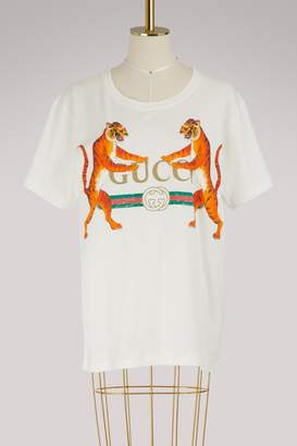 Gucci logo with tigers t-shirt