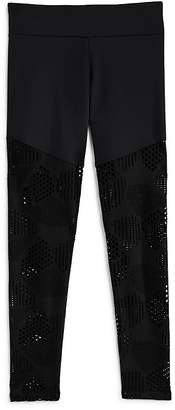 Onzie Girls' Contrast Mesh Leggings - Big Kid