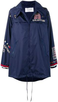 Valentino logo embroidered jacket