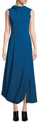 3.1 Phillip Lim Turtleneck Split-Hem Sleeveless Maxi Gown