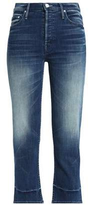 Mother Cropped High-Rise Slim-Leg Jeans