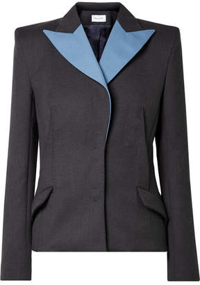 Thierry Mugler Two-tone Wool Blazer - Anthracite