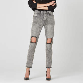 DSTLD High Waisted Mom Jeans in Acid Grey