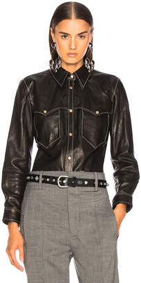 Isabel Marant Leather Nile Shirt