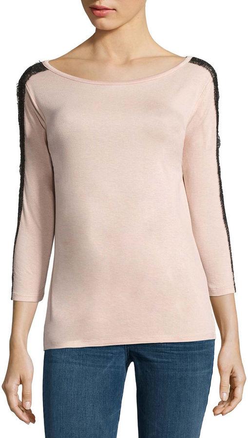 BUFFALO JEANS Buffalo Jeans 3/4 Lace Sleeve Knit Top