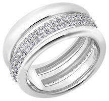 Swarovski Exact Crystal Rhodium-Plated Ring