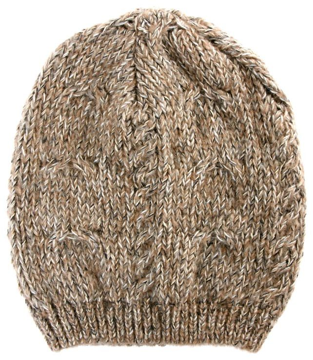 Asos Twist Yarn Oversized Cable Beanie