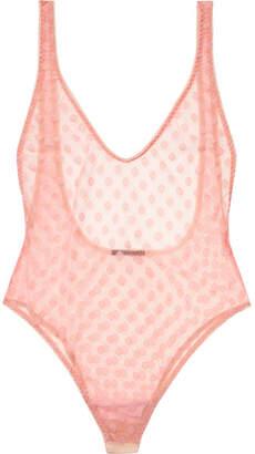 Rosalie Le Petit Trou Polka-dot Stretch-tulle Bodysuit