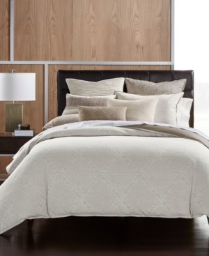 Hotel Collection Pebble Diamond Cotton Full/Queen Duvet Cover, Created for Macy's Bedding