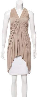 Rick Owens Lilies Leather-Accented Sleeveless Tunic w/ Tags