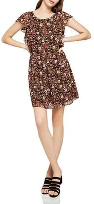 BCBGeneration Scoop-Back Floral Print Dress