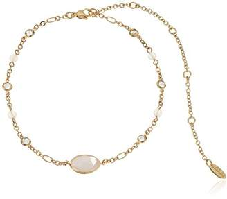 Ettika Heavenly Desire in Rose Quartz and Gold Choker Necklace