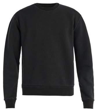 Maison Margiela Elbow Patch Cotton Sweatshirt - Mens - Black