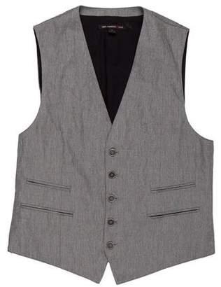 John Varvatos V-Neck Button-Up Vest