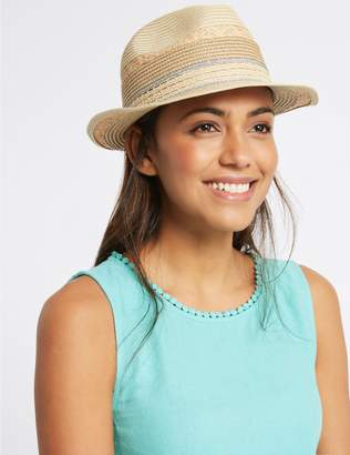Marks and Spencer Metallic Trim Trilby Hat
