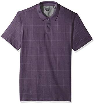 Van Heusen Men's Slim Fit Short Sleeve Printed Windowpane Polo Shirt