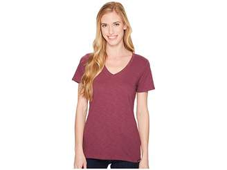The North Face Short Sleeve Sand Scape V-Neck Tee Women's T Shirt