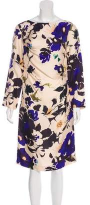 Dries Van Noten Floral Print Sheath Dress
