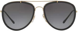 Burberry Be3090q 58 Gold Pilot Sunglasses