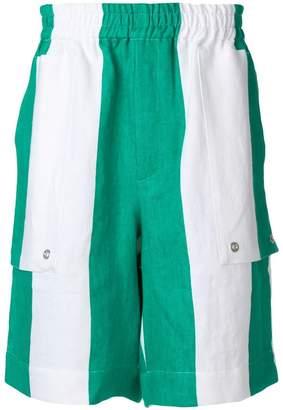 Études striped elasticated waist shorts