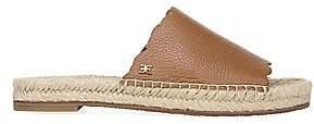 Sam Edelman Women's Andy Scalloped Leather Slide Sandals