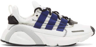 adidas White and Blue LX Con Sneakers