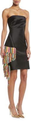 Sachin + Babi Galanthu Strapless Mini Dress w/ Side Fringe