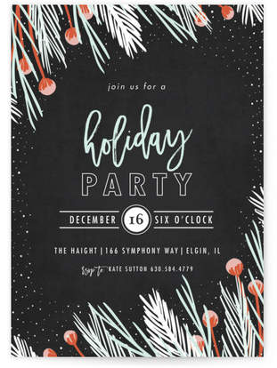 glistening pine Holiday Party Invitations