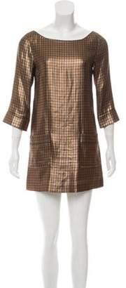 Marc Jacobs Metallic Mini Dress Gold Metallic Mini Dress