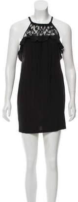 Rebecca Taylor Semi-Sheer Mini Dress