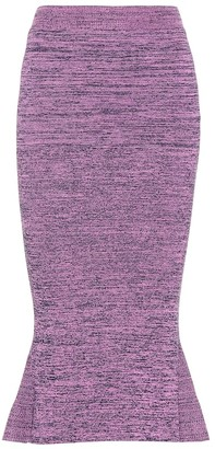 Stella McCartney Knitted cotton midi skirt
