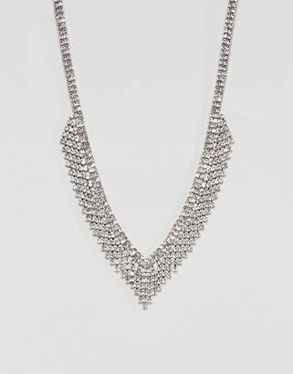 Aldo Silver Embellished Occasion Necklace