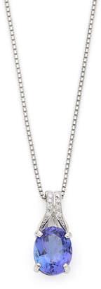 Oriental Diamond プラチナタンザナイト ダイヤモンド ネックレス プラチナ