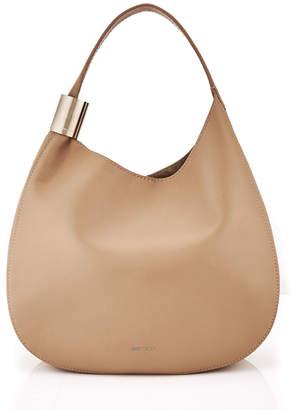 Jimmy Choo STEVIE Nude Nappa Leather Shoulder Bag