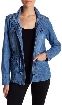Stony Cinched Waist Denim Jacket (Petite) $74 thestylecure.com