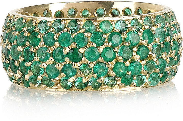 Jennifer Meyer 18-karat gold emerald ring