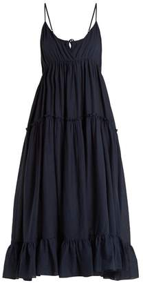 Loup Charmant - Carino Tiered Cotton Dress - Womens - Navy