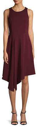 LORI MICHAELS Sleeveless Asymmetrical Dress