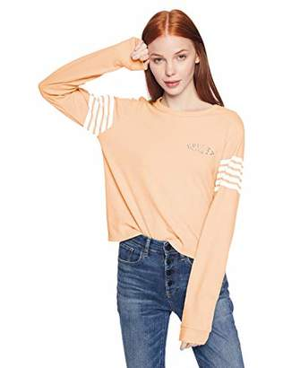 Hurley Women's Graphic Long Sleeve Waffle Thermal T Shirt