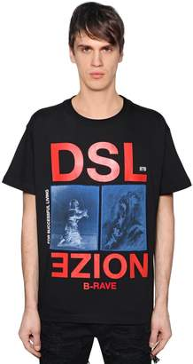Diesel Noize Printed Cotton Jersey T-Shirt