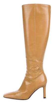 Chanel CC Square Toe Boots