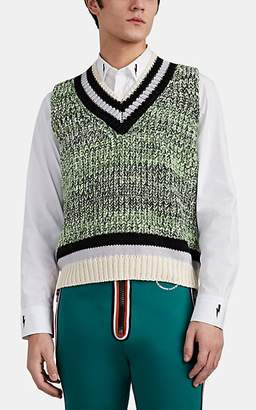 901ed46154 Maison Margiela Men s Marled Chunky-Knit Cotton-Blend Sweatervest - Gray