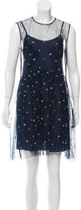 P.A.R.O.S.H. Embroidered Sleeveless Dress