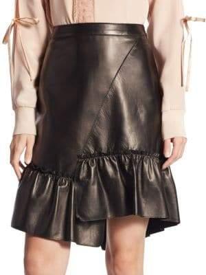 3.1 Phillip Lim Asymmetrical Leather Skirt